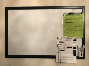 Dry Erase Board for Assignments/Appointments